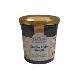 Confiture aux quatre fruits rouges, pot 375 gr