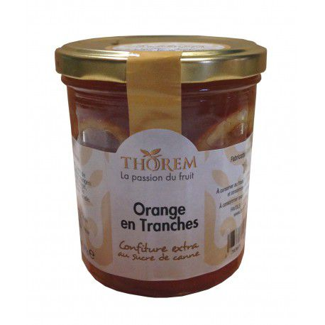 Confiture d'Orange en tranches, pot 375 gr