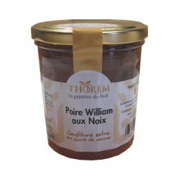Confiture de Poire William aux noix, pot 375 gr